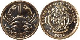 1 цент 2012 Сейшельские острова — Краб UNC