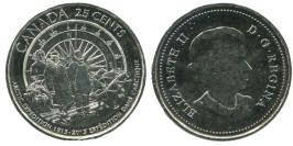 25 центов 2013 Канада — 100 лет Канадской арктической экспедиции UNC