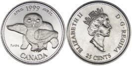 25 центов 1999 Канада — Миллениум — Апрель 1999, Северное наследие