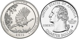25 центов 2015 P США — Национальные лес Кисатчи (Луизиана) UNC