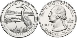 25 центов 2015 D США — Национальное убежище дикой природы Бомбай-Хук Делавэр — Bombay Hook UNC