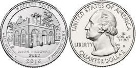 25 центов 2016 D США-Национальный исторический парк Харперс Ферри Западная Виргиния-Harpers FerryUNC