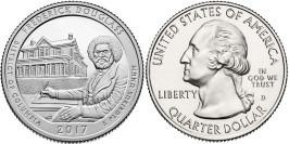 25 центов 2017 D США-Национальное историческое место Фредерика Дугласа Округ Колумбия-FrederickD UNC