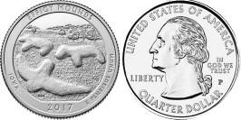 25 центов 2017 P США — Национальный памятник Эффиджи-Маундз Айова — Effigy Mounds UNC