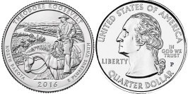 25 центов 2016 P США — Национальный парк Теодор-Рузвельт Северная Дакота — Theodore Roosevelt UNC