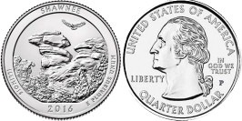 25 центов 2016 P США — Национальный лес Шоуни (Иллинойс) UNC