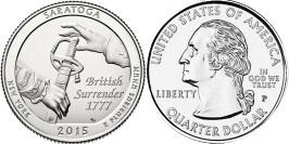 25 центов 2015 P США — Национальный исторический парк Саратога (Нью-Йорк)