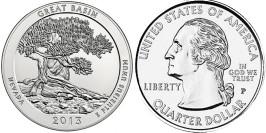 25 центов 2013 P США — Национальный парк Грейт-Бейсин (Невада) UNC