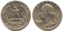 25 центов 1982 P США