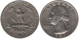 25 центов 1987 P США