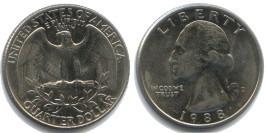 25 центов 1988 D США