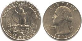 25 центов 1991 P США
