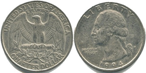 25 центов 1994 P США