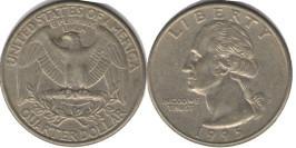 25 центов 1995 P США