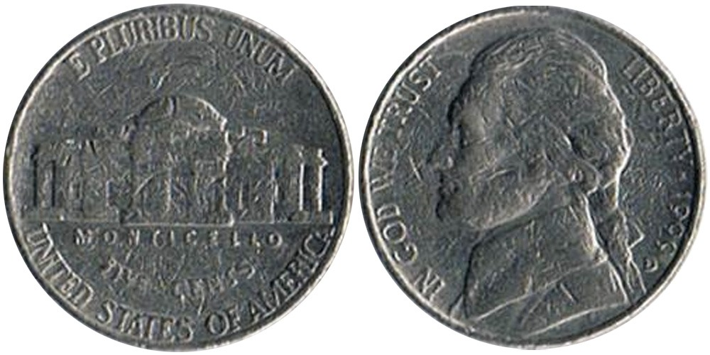 5 центов 1999 D США