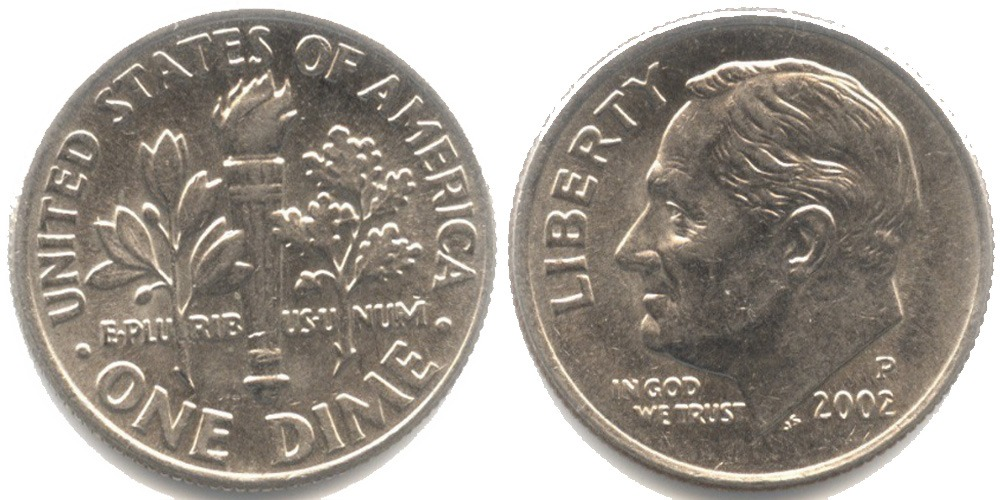 10 центов 2002 P США