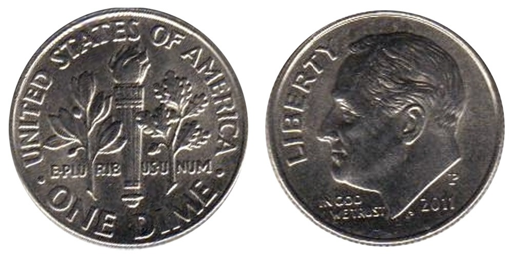 10 центов 2011 P США