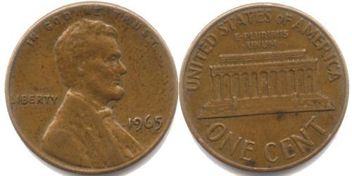 1 цент 1965 США