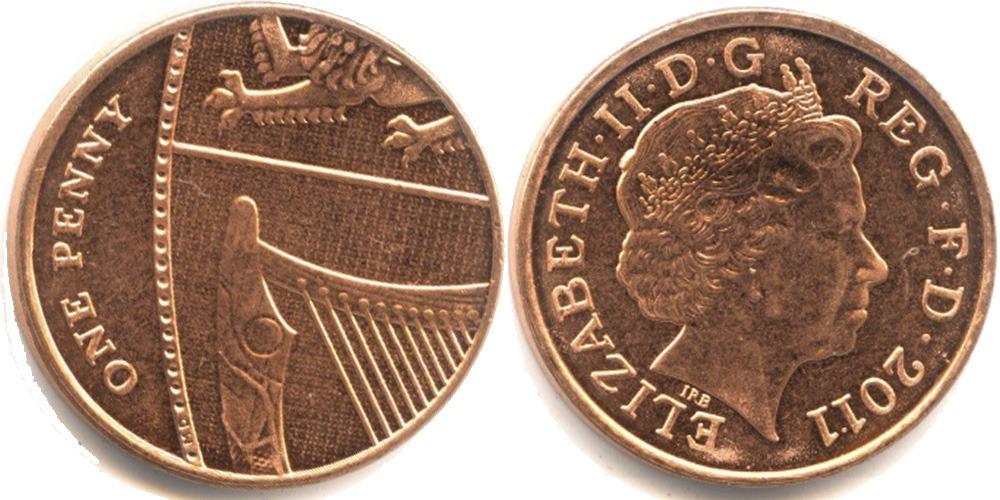 1 пенни 2011 Великобритания