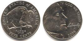 5 центов 2005 P США — 200 лет экспедиции Льюиса и Кларка — Бизон