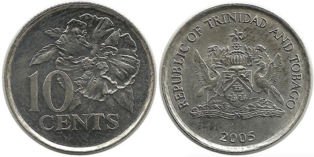 10 центов 1999 Тринидад и Тобаго — Гибискус UNC