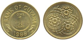 1 цент 1988 Гайана UNC