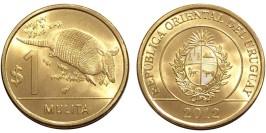 1 песо 2012 Уругвай — Девятипоясный броненосец