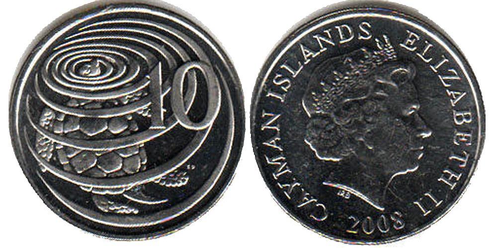 10 центов 2008 Каймановы острова