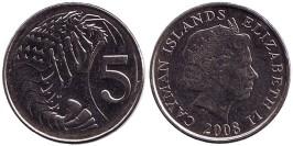5 центов 2008 Каймановы острова UNC
