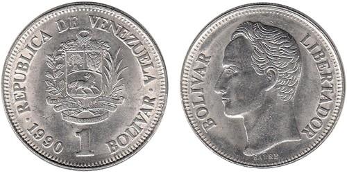 1 боливар 1990 Венесуэла