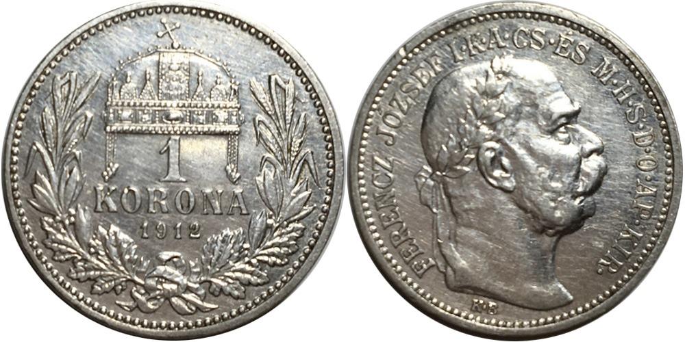 1 крона 1912 Венгрия — серебро