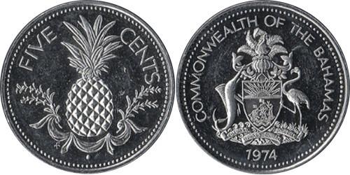 5 центов 1974 Багамские Острова