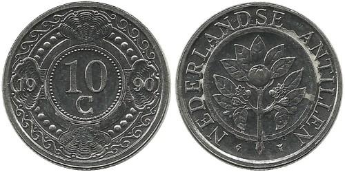 10 центов 1990 Нидерландские Антильские острова