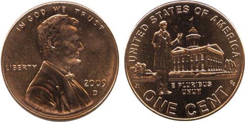 1 цент 2009 «D» США — 200 лет со дня рождения Авраама Линкольна — Карьера в Иллинойсе