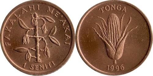 1 сенити 1996 Тонга — Куст ванили ФАО F.A.O.