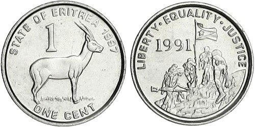 1 цент 1997 Эритрея UNC