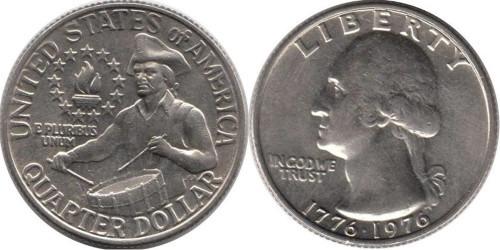 25 центов 1976 США — 200 лет независимости США