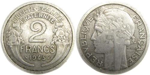 2 франка 1945 Франция