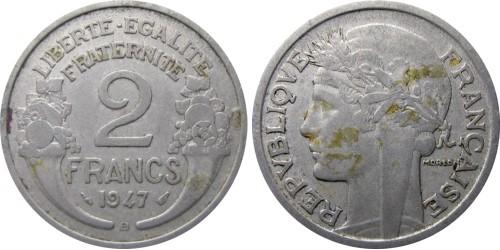 2 франка 1947 Франция — В