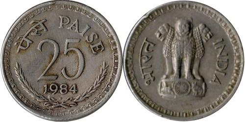 25 пайс 1984 Индия — Бомбей