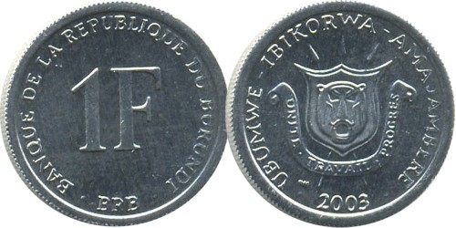 1 франк 2003 Бурунди