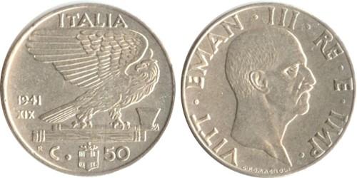 50 чентезимо 1941 Италия — магнитная — XVIII