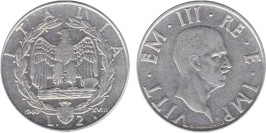 2 лиры 1940 Италия — магнитная — XVIII