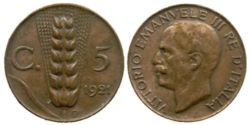 5 чентезимо 1921 Италия