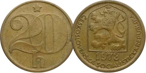 20 геллеров 1973 Чехословакии