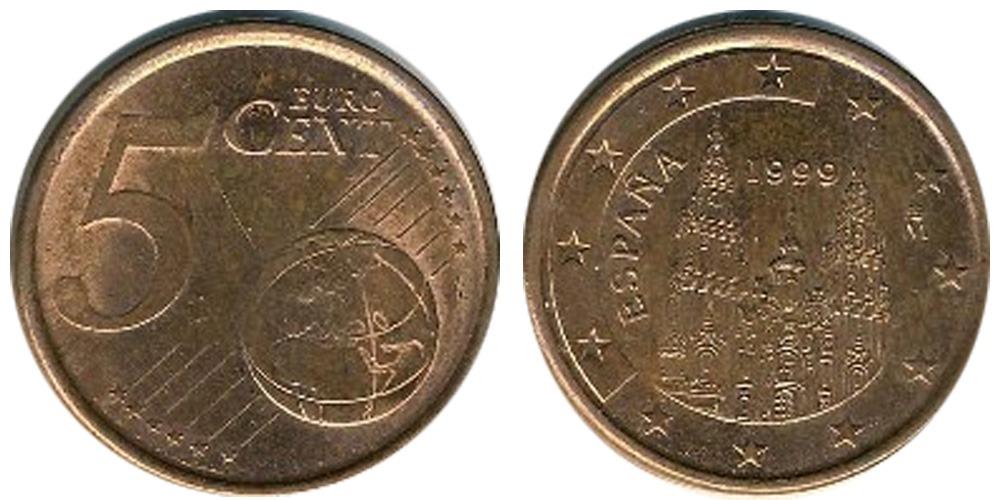 5 евроцентов 1999 Испании