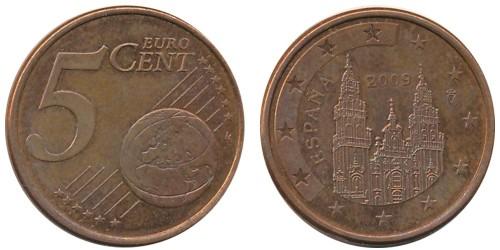 5 евроцентов 2009 Испании