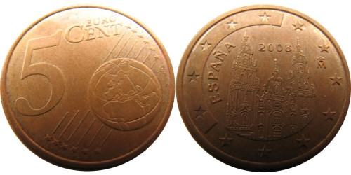 5 евроцентов 2008 Испании