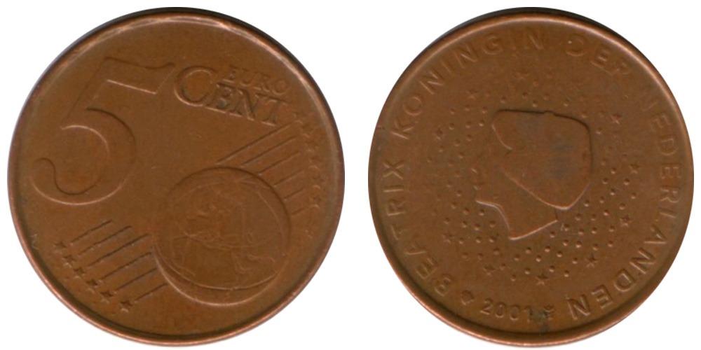 5 евроцентов 2001 Нидерланды