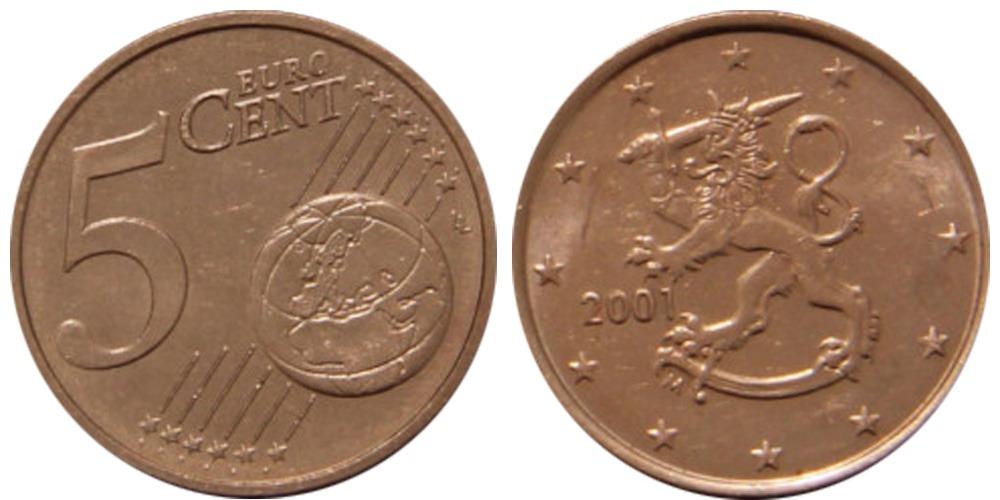 5 евроцентов 2001 Финляндия